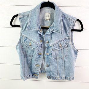 GAP Jackets & Coats - Vintage Gap Blue Denim Vest Size Small